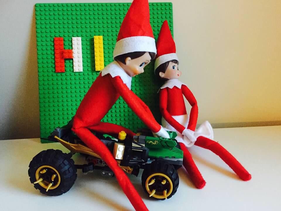 Elf on the Shelf Lego Shenanigans