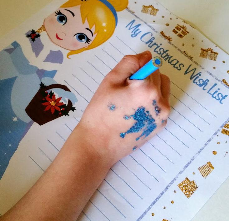 Princess Christmas Wish List Printable - Kids Activity