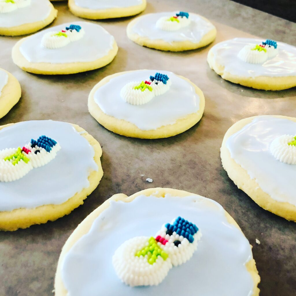 Snowman Cream Cheese Sugar Cookies