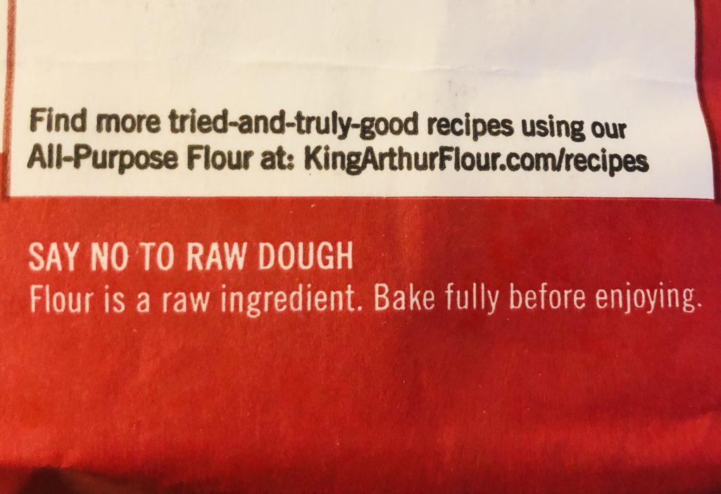 Heat raw flour