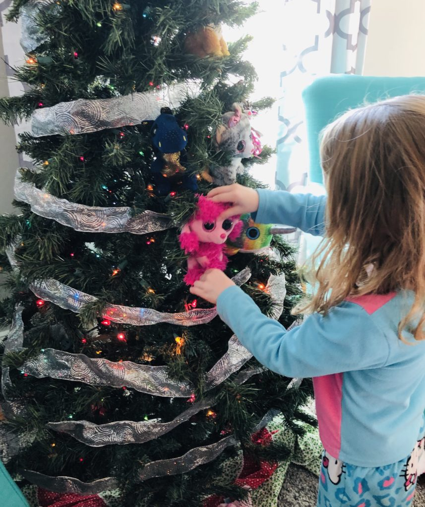 Decorating the Beanie Boo Christmas Tree