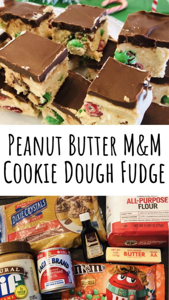 Peanut Butter M&M Cookie Dough Fudge