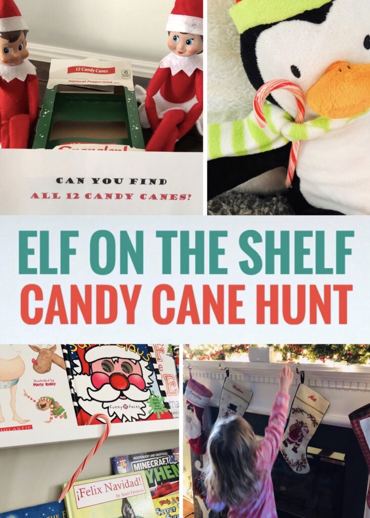 Elf on the Shelf Candy Cane Hunt