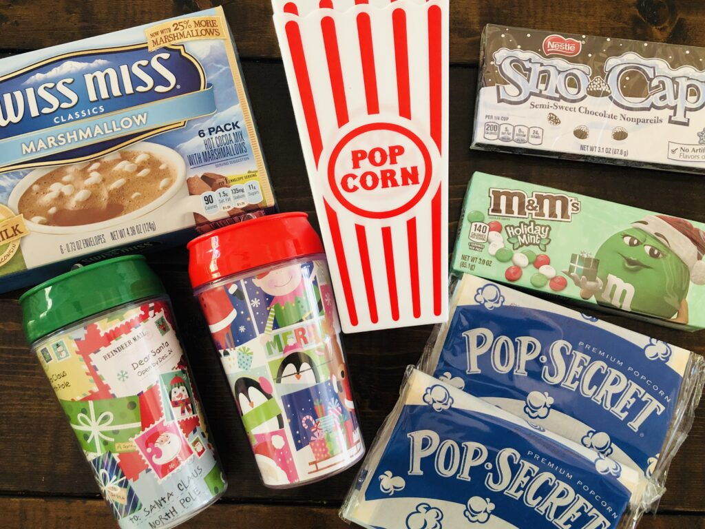 Movie Night Gift Basket Items