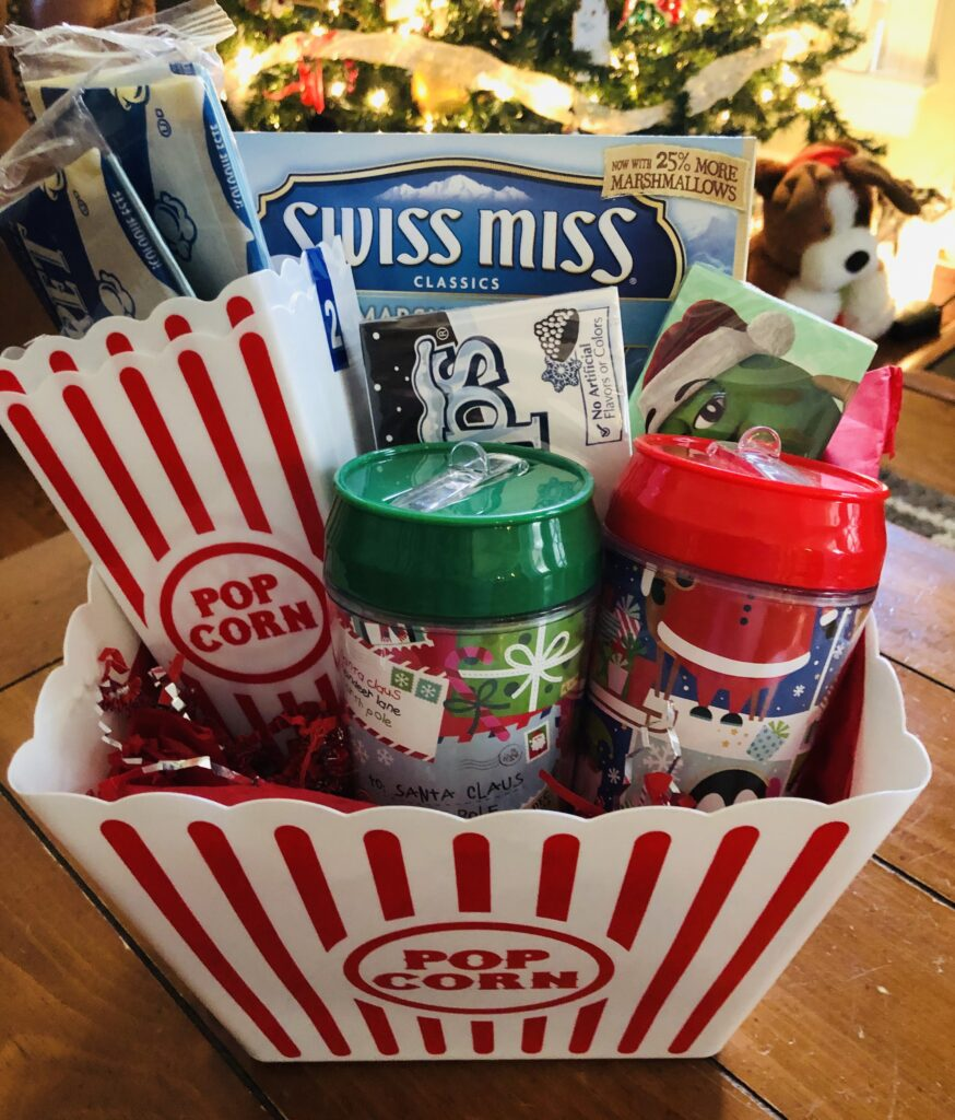 Dollar Tree Movie Night Gift Basket