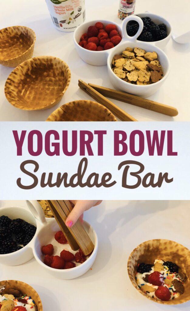 Yogurt Waffle Bowl Sundaes
