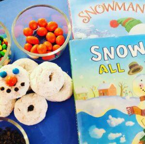 Snowman Donut Book Craft Activity