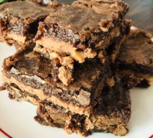 Easiest Almond Toffee Brownies