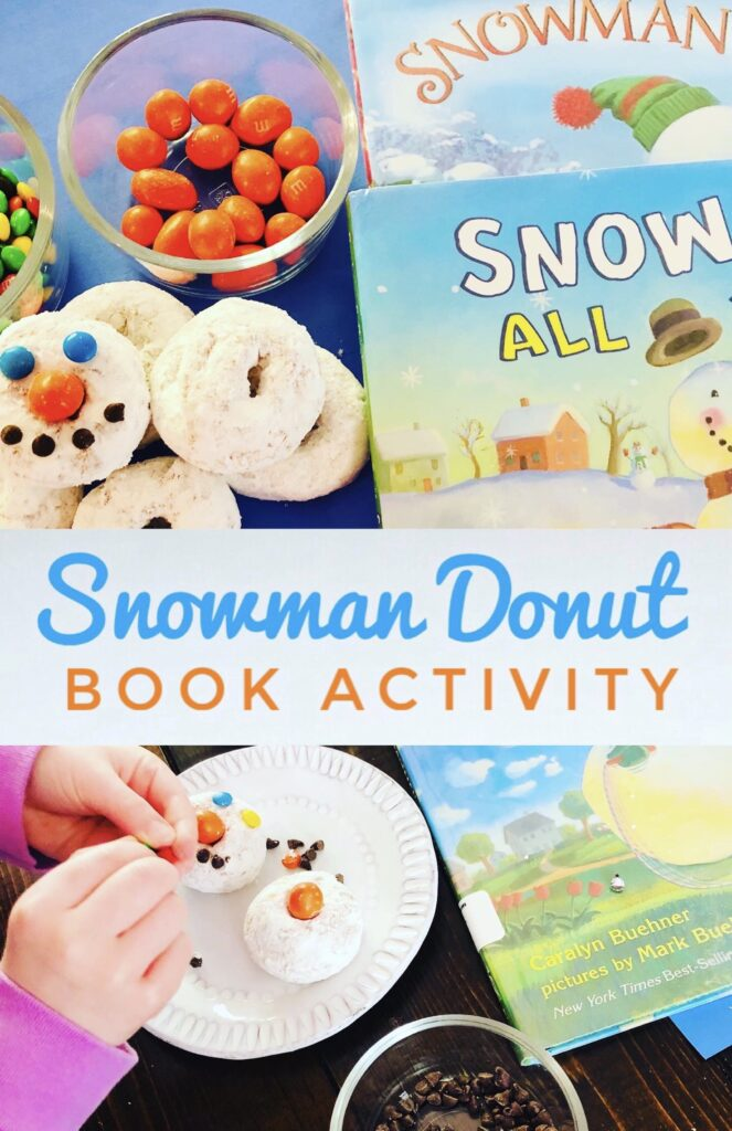 Snowman Donut Craft Book Activity for Kids