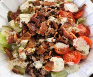 Whole 30 Bacon Ranch Burger Salad