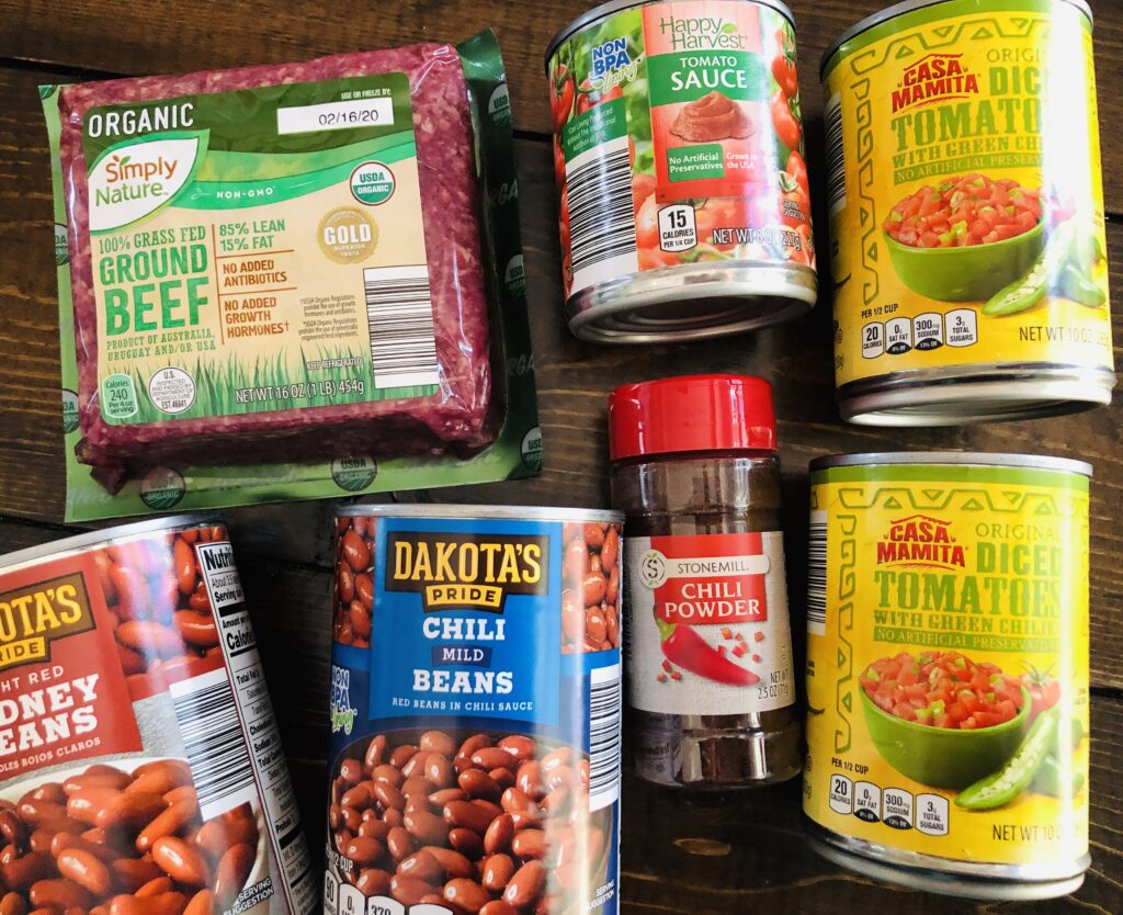 Chili Ingredients from ALDI