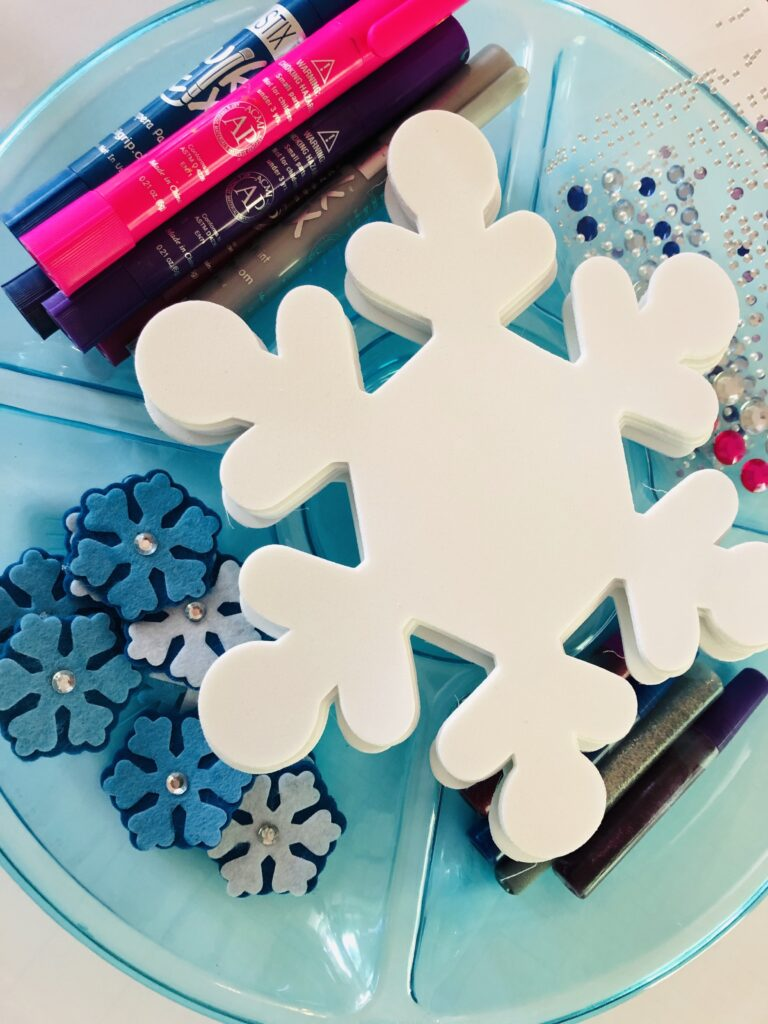 Foam Snowflake Crafting Tray