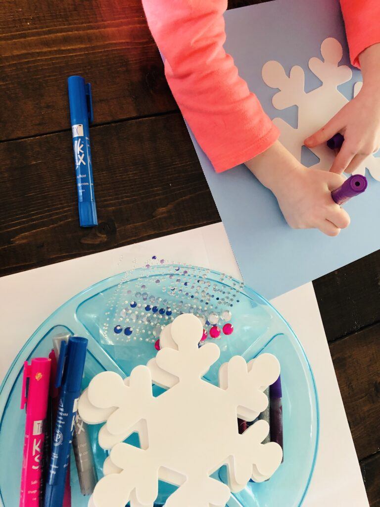 Foam Snowflakes Craft