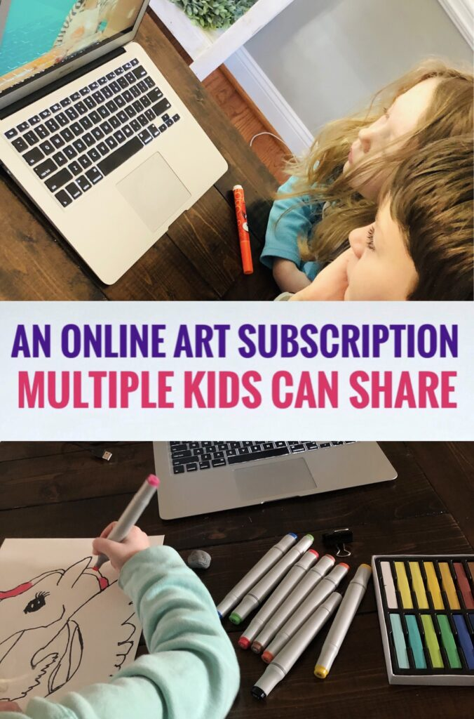 Online Art Subscription Multiple Kids Can Share