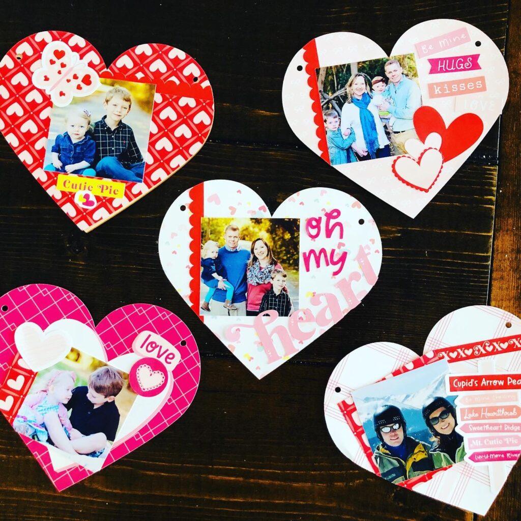 Heart Valentine Scrapbook Pages