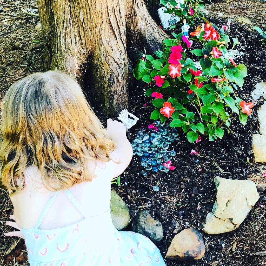 Backyard Fairy Garden for Nature Week Activities