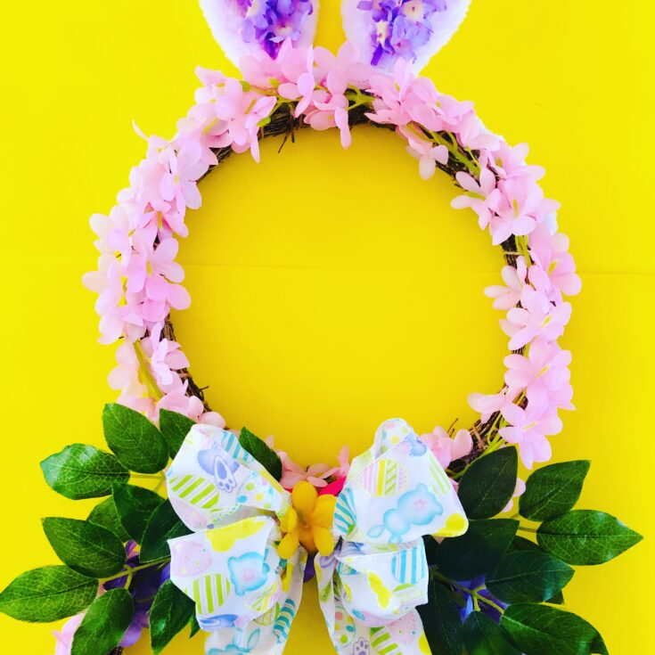 DIY Easter Bunny Wreath {Dollar Tree Craft}