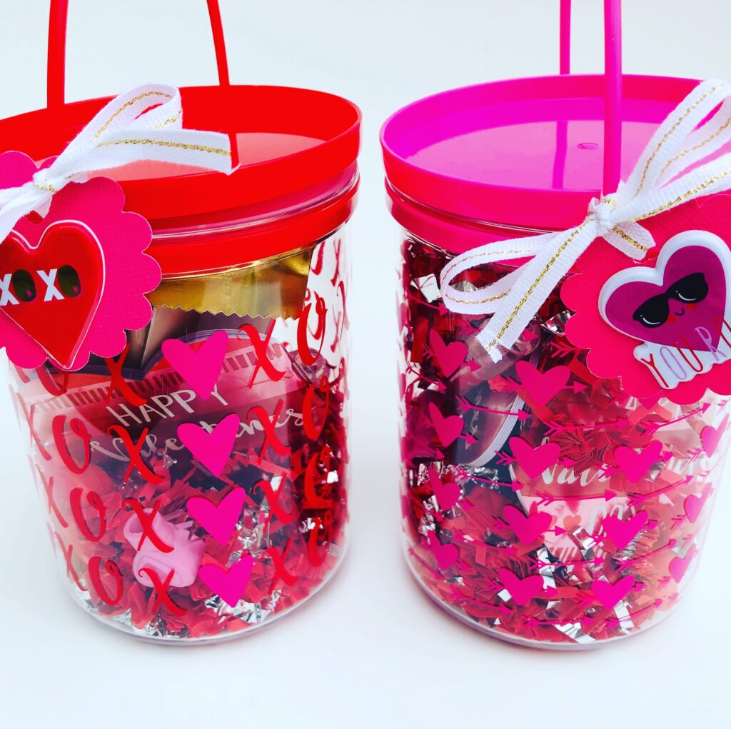 Dollar Tree Valentine Bucket gift idea for teachers
