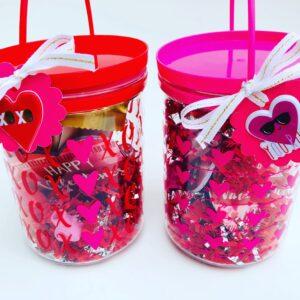 Dollar Tree Valentine Bucket gift idea for teachers