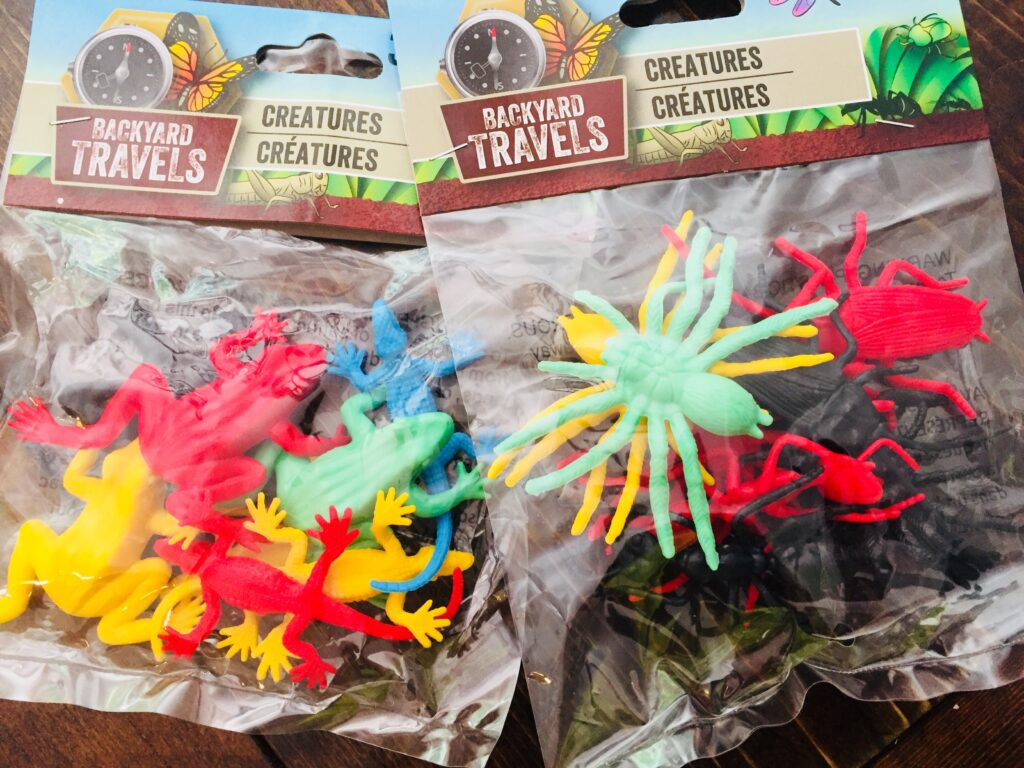 Dollar Tree Plastic Bugs and Reptiles Creatures
