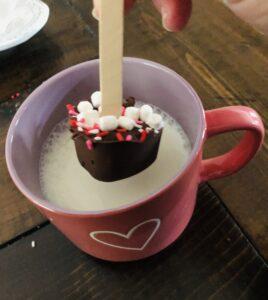 Valentine Heart Hot Chocolate Sticks