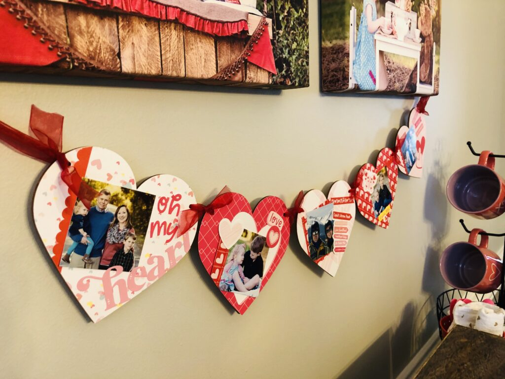Heart Photo Banner DIY Valentine Decor