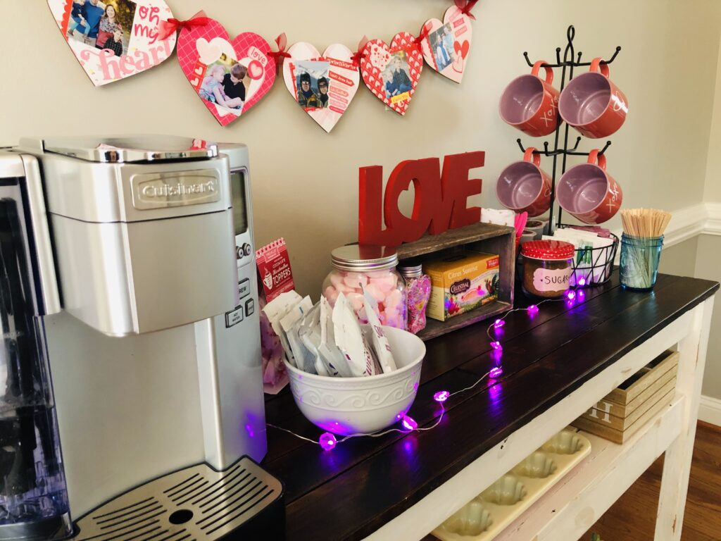 Beverage Station for Valentine's Day