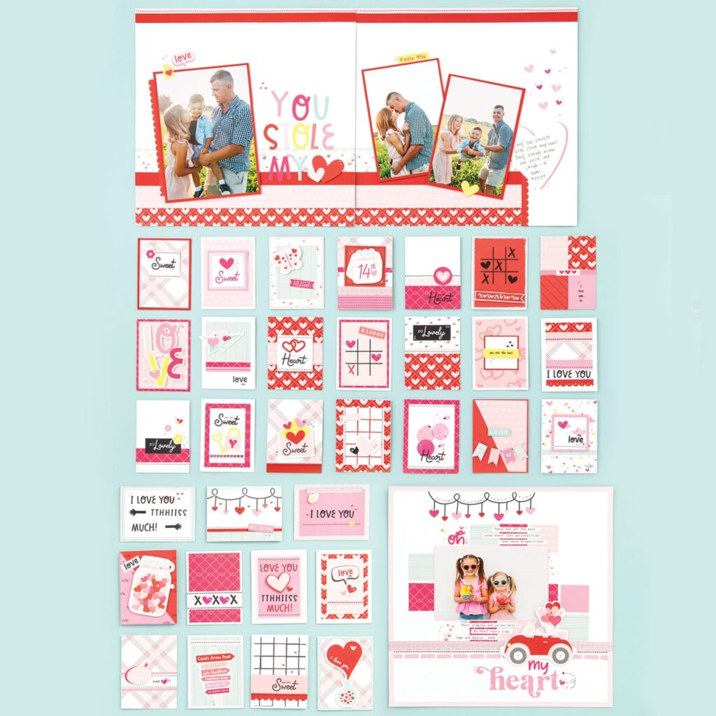 Valentine Scrapbooking Paper