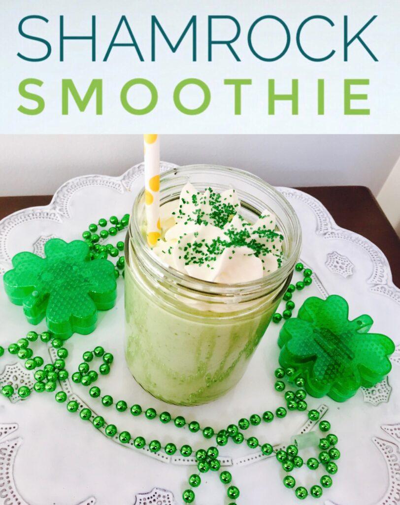 Healthy Shamrock Shake Smoothie Recipe