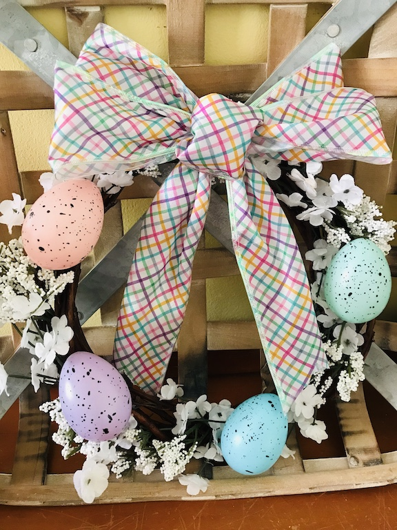 Mini Easter Egg Wreath from the Dollar Tree