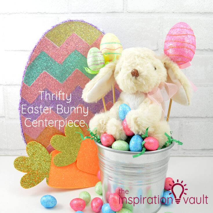 Thrifty Easter Bunny Centerpiece