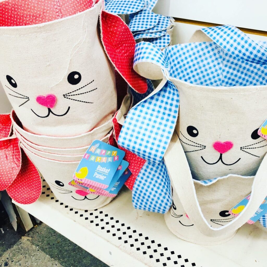 Dollar Tree Bunny Burlap Baskets
