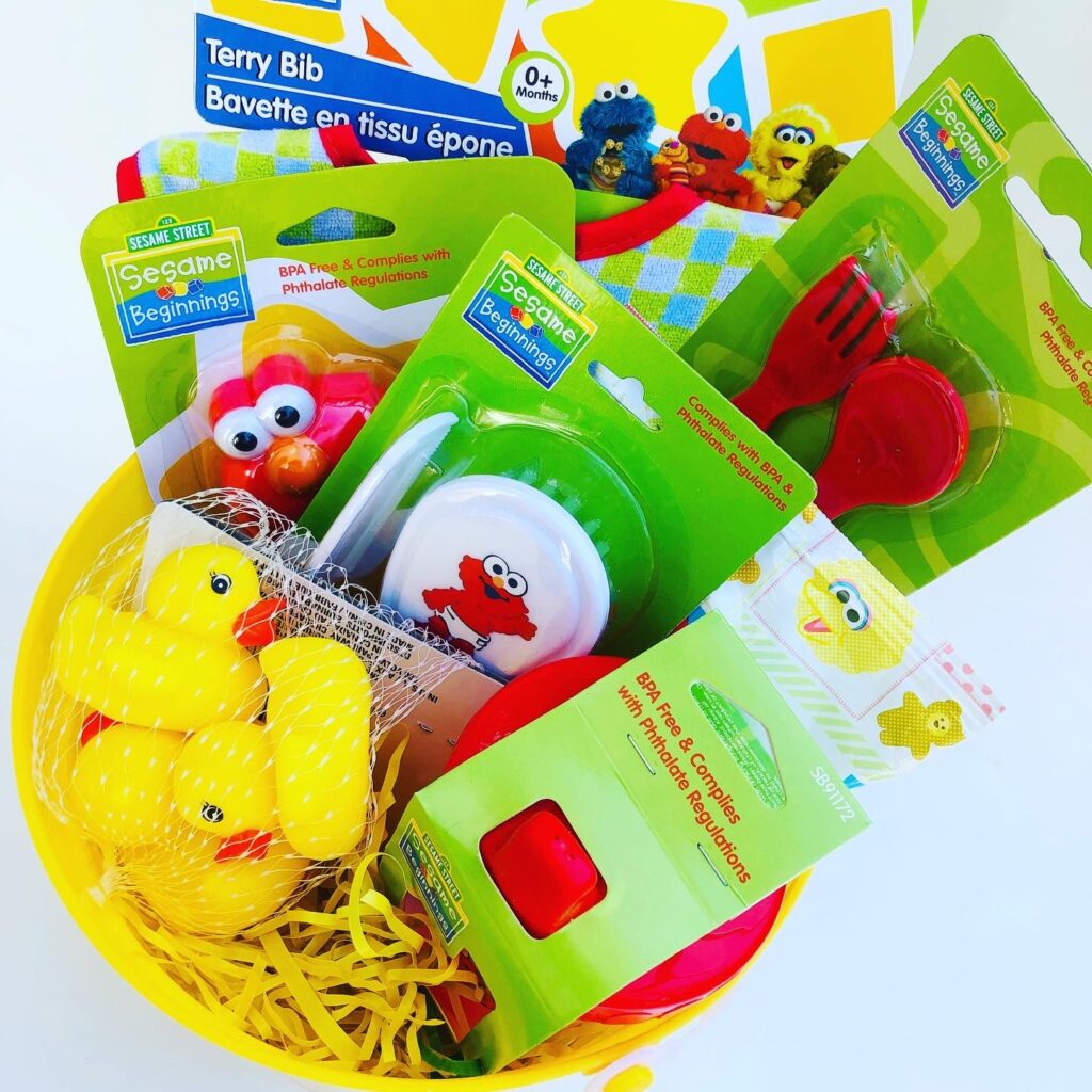 Dollar Tree Easter Baby Gift Basket
