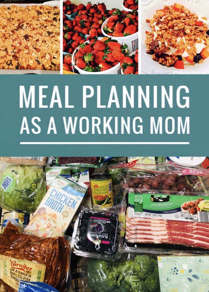 Meal Planning as a Working Mom