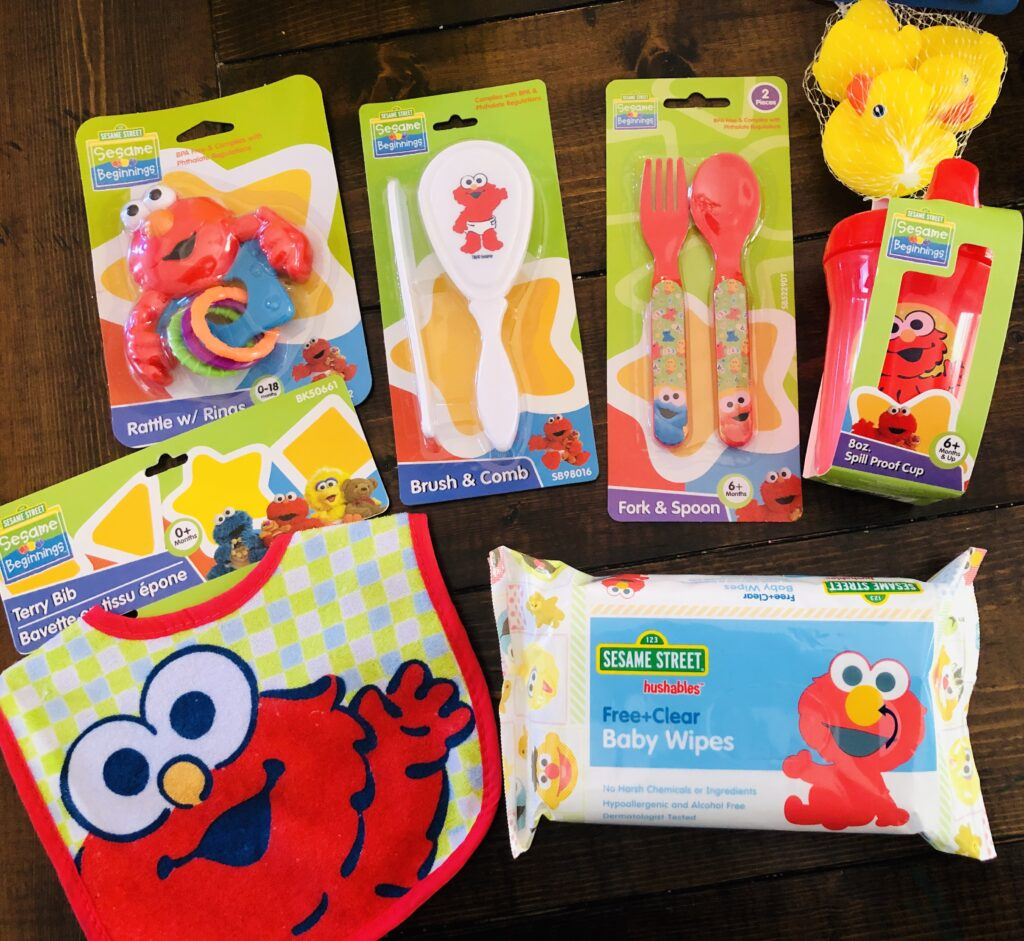 Elmo themed Baby Supplies at Dollar Tree