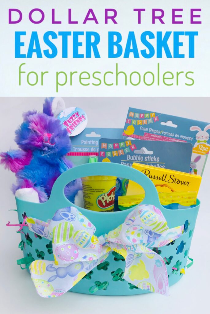 Dollar Tree Easter Basket ideas for Preschoolers