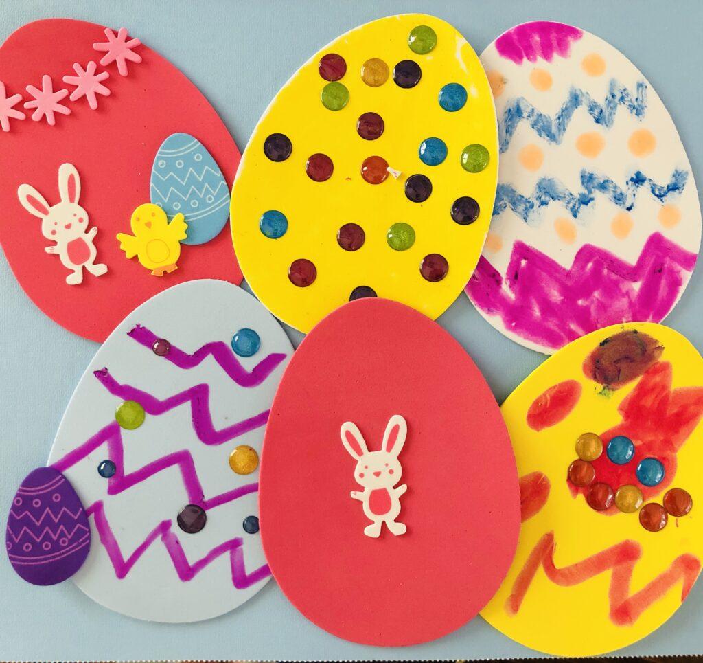 Foam Easter Egg Craft for Kids