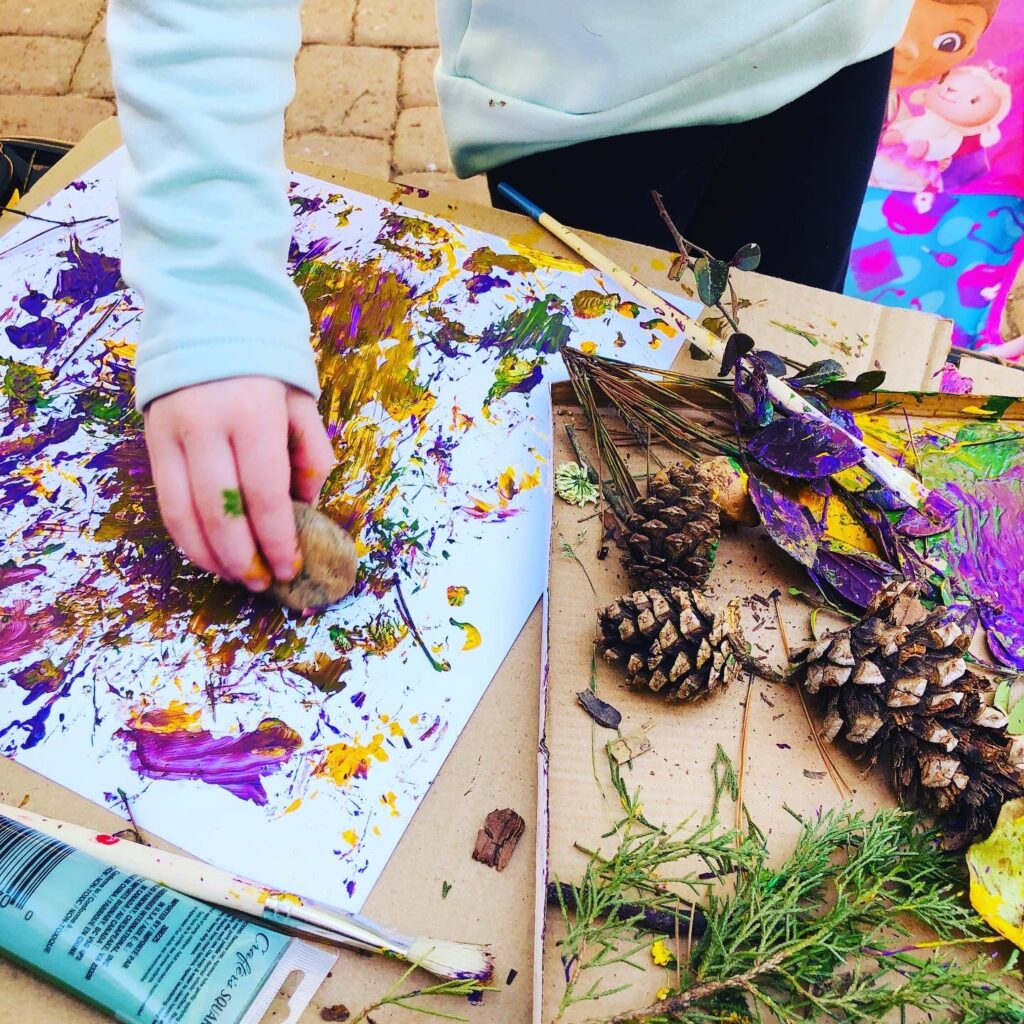 Painting with Nature Activity for Kids