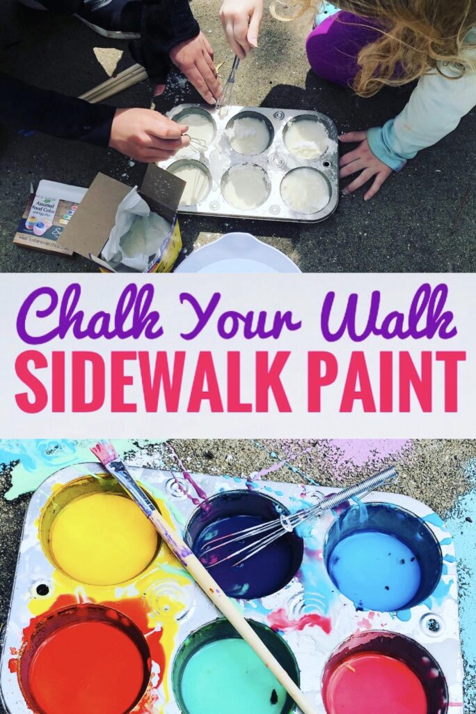 Chalk Your Walk DIY Sidewalk Paint