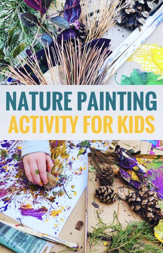Nature Painting Activity for Kids