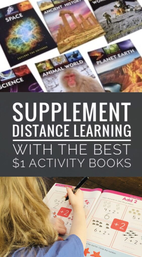 $1 Activity Books for Kids to help supplement distance learning