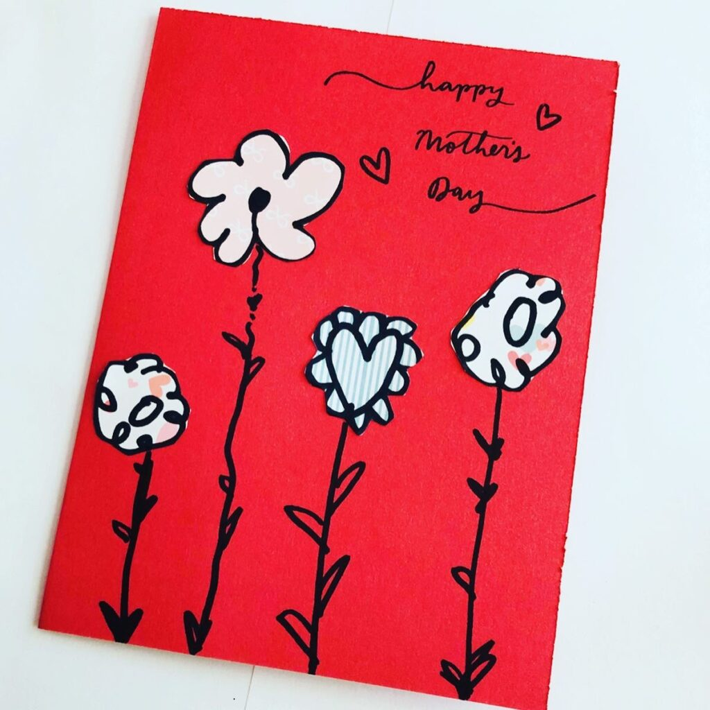 Simple Mother's Day Card Using Paper Scraps