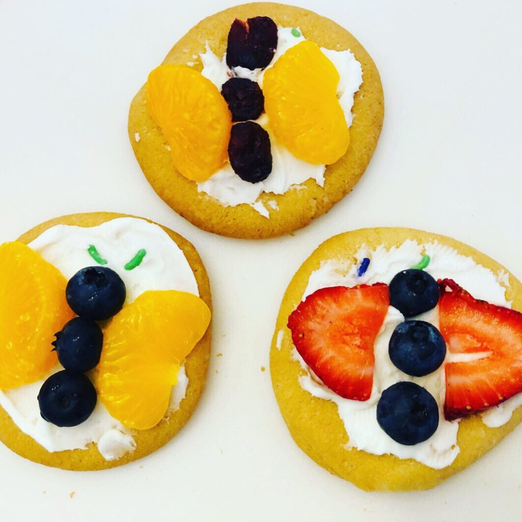 Butterfly Fruit Cookie Snack Craft