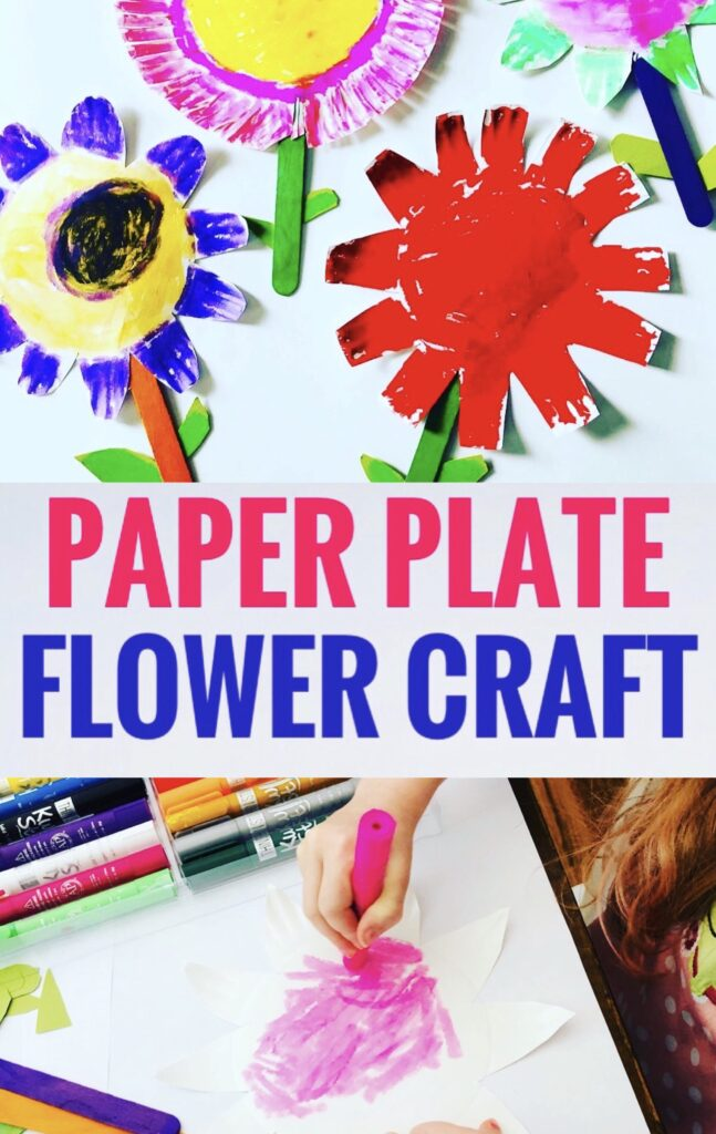 Mess Free Paper Plate Flower Craft