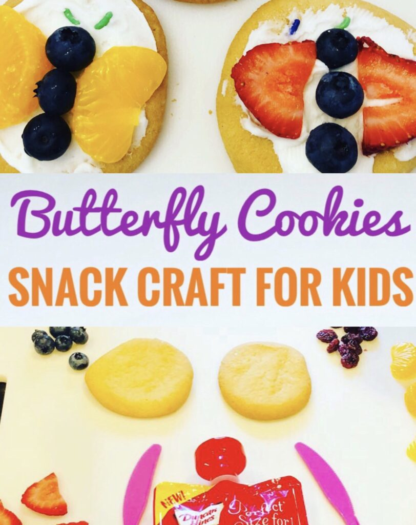 Butterfly Cookies Snack Craft for Kids