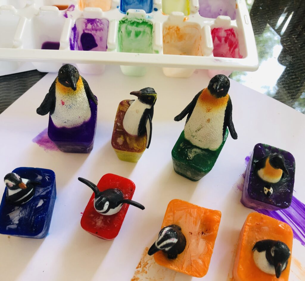 Penguin Ice Cube Painting Activity