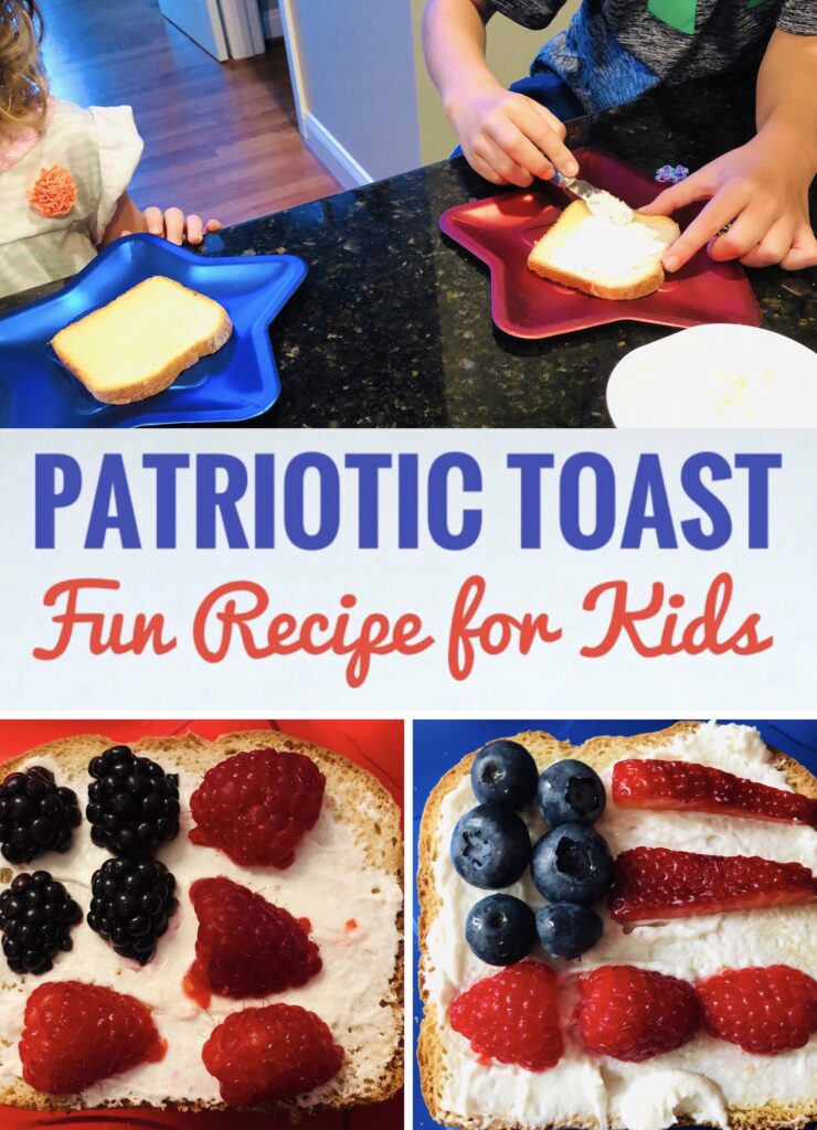 American Flag Toast for Patriotic 4th of July Breakfast