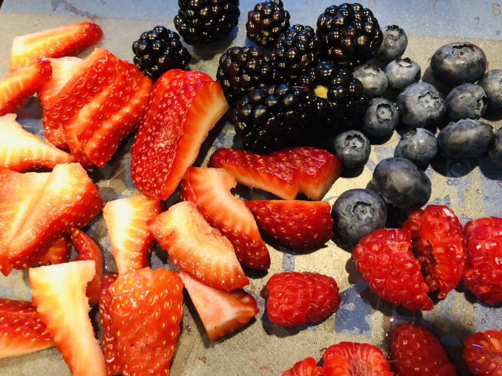 Berries for Patriotic Toast