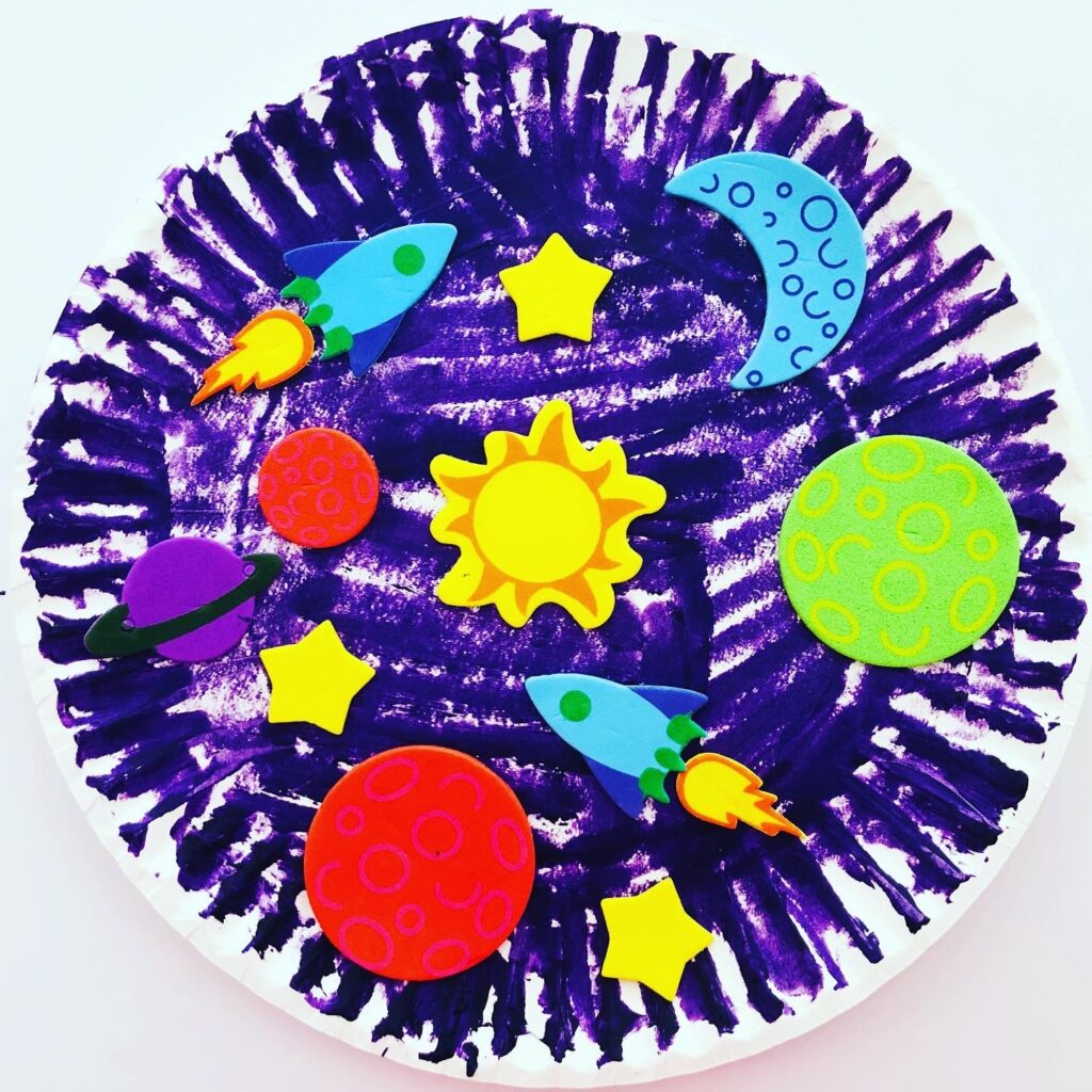 Space Themed Paper Plate Craft