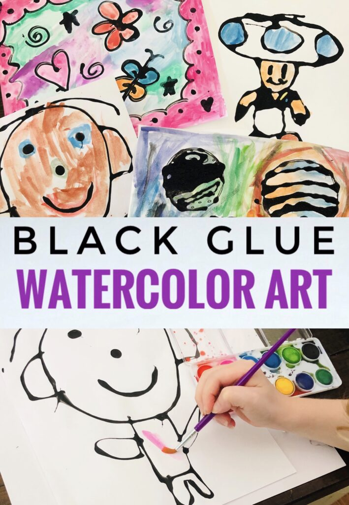 Black Glue Watercolor Art